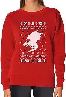 TeeStars - Big White Dragon Ugly Christmas Sweater Xmas Apparel Women Sweatshirt