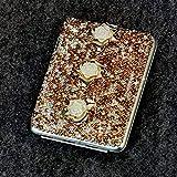 SXFYGYQ Boîte à Cigarettes Creative Automatique Bombe en Acier Inoxydable Strass Boîte à Cigarettes Portable Lady Boîte à Cigarettes Peut contenir 20 Cigarettes,B