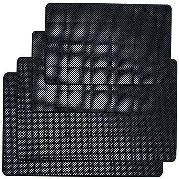 DaKuan Car Dashboard Anti-Slip Mat 4 Packs 10.5  x 5.7  and 8  x 5.1  Sticky Non-Slip Dashboard Gel Latex Pad for Cell Phone Sunglasses Keys Coins