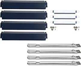 Direct Store Parts Kit DG149 Replacement Charbroil 463247310,463257010 Gas Grill Burner,Crossover Tubes,Heat Shield-4 Pack (SS Burner + SS Carry-Over Tubes + Porcelain Steel Heat Plate)