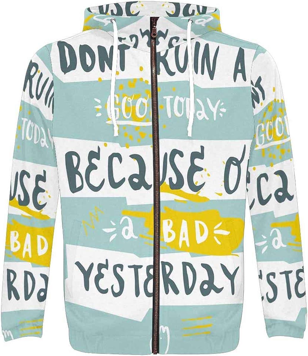 InterestPrint Men's Pullover Full Zip 4 years Mail order cheap warranty Sweatshirt R Hoodies Don't