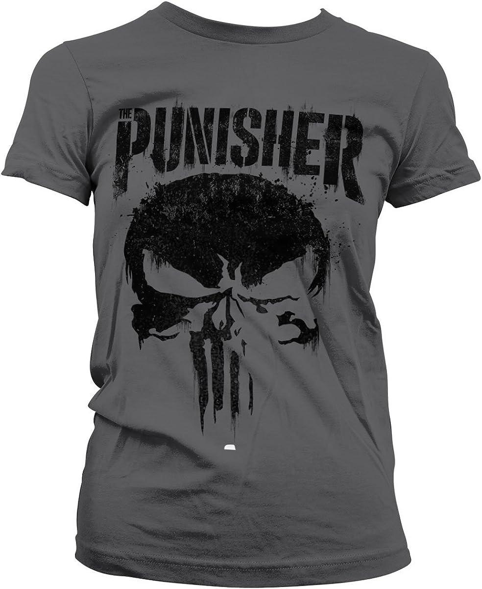 Marvel Officially Licensed The Punisher Big Skull Women T-Shirt