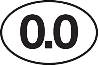 0.0 Sticker No Running Don't Run Funny Marathon Bumper Sticker Oval 5