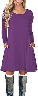 Best purple dress 3/4 sleeve Reviews