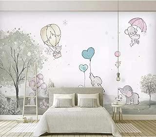 Wanghan 3D Wallpaper Custom Mural Cute Cartoon Balloon Bear Cub Animal Child Room Background Wall Wallpaper Landscape Home Decor 150Cmx100Cm