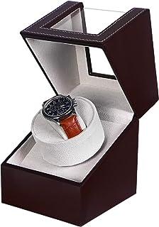 SAMWOO Automatic Mechanical PU Leather Watch Winding Winder Storage Box Motor Box
