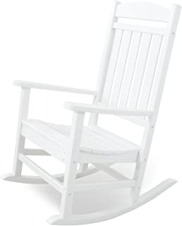 Pleasant Amazon Com White Resin Rocking Chairs Chairs Patio Camellatalisay Diy Chair Ideas Camellatalisaycom