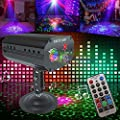 Disco DJ Light Party Light Strobe Stage Light LED Projection Effect light Sound Activated with Remote Control for Birthday Bar Club Wedding Christmas KTV Karaoke Festivals