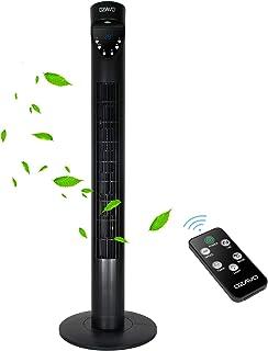 OZAVO Ventilateur Colonne Silencieux 97cm, avec Télécommande & Minuterie Ventilateur Tour Oscillation Sans Pale Affichage ...