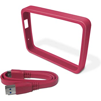 WD Grip Pack for My Passport Ultra 2TB with USB 3.0 Cable, Fuchsia (WDBFMT0000NPM-NASN)