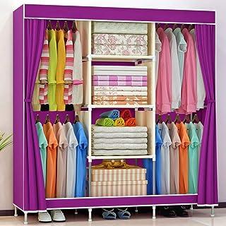 JHDDP3 Armoire en Tissu Non tissé Pliante Armoire Portable vêtements rangements Armoire Armoire Meubles de Maison, 1 (Colo...