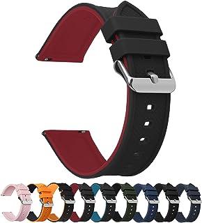 18 mm 20 mm 22 mm 24 mm klockarmband silikon ersättningsband kompatibel med Huawei Wathch, Samsung Galaxy Watch, Fossil Wa...