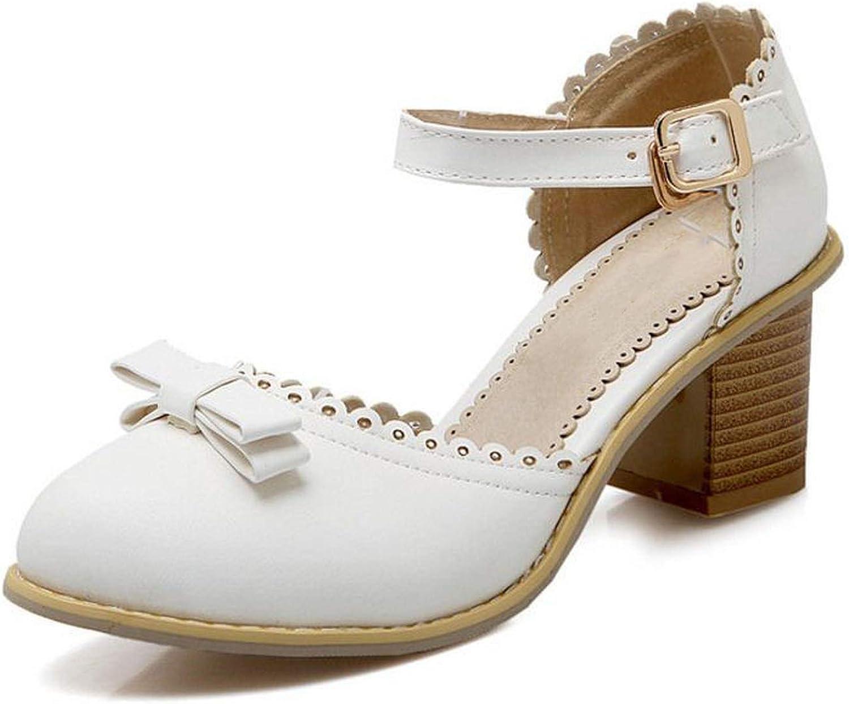 Sandals Round Toe Bowknot Summer shoes Women Bowtie Thick Heel Saandals Women shoes