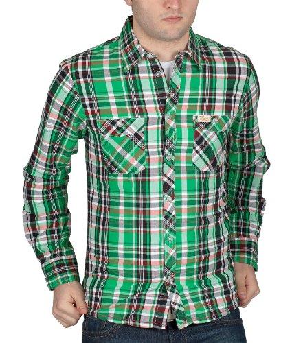 Outfitters Nation Herren Langarm Hemd by Bestseller Jeans H/M 2013 Star MOD 3803 grün D.G