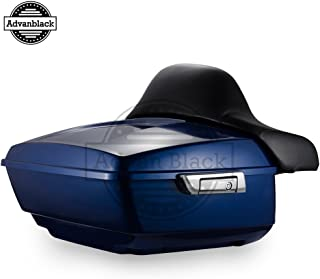Advanblack Superior Blue King Tour Pack Tour-Pak with Backrest Pad Fit for Harley Touring Street Glide Road Glide Special Electra Glide Ultra Classic 2014 2015 2016 2017 2018 2019