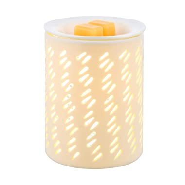 COOSA Ceramic Candle Warmer - Melts Scented Fragrances Wax Tart Cubes Burner - Raindrop Pattern Design - for Aromatherapy