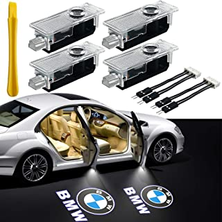 Car Door Light LED Logo Projector Light, Henlight 4 Pcs LED Car Entry Ghost Shadow Laser Projector Welcome Lights for BMW 3 5 6 7 X Z GT Series