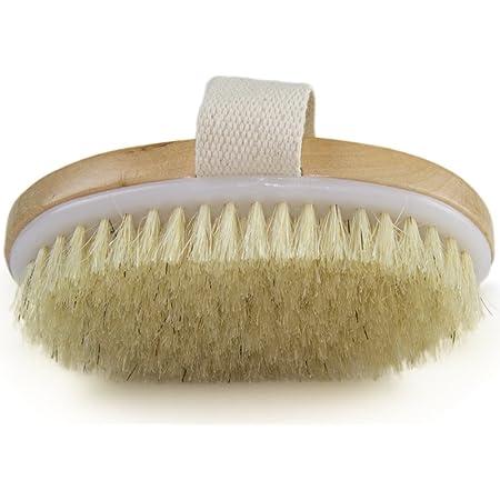 Borstiq Natural Body Brush with Leather Strap Large
