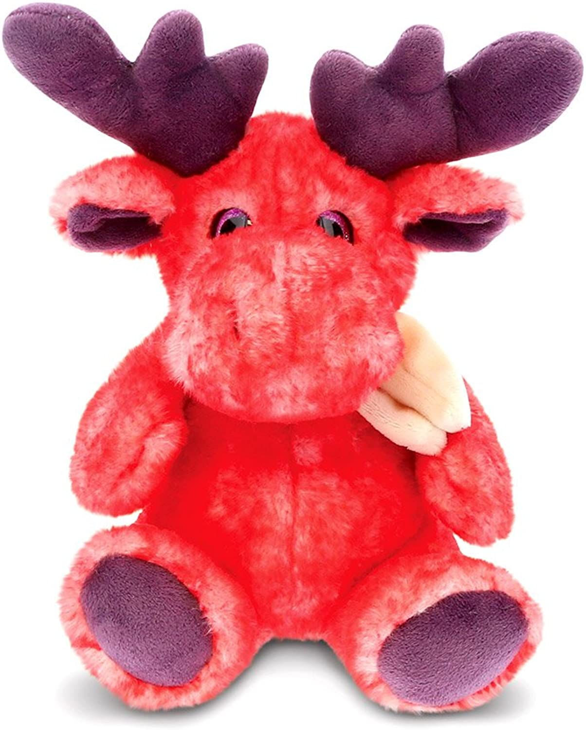 CoTa Global Sitting Red Moose with Scarf - 11 inch - Super Soft Plush - Item  5451