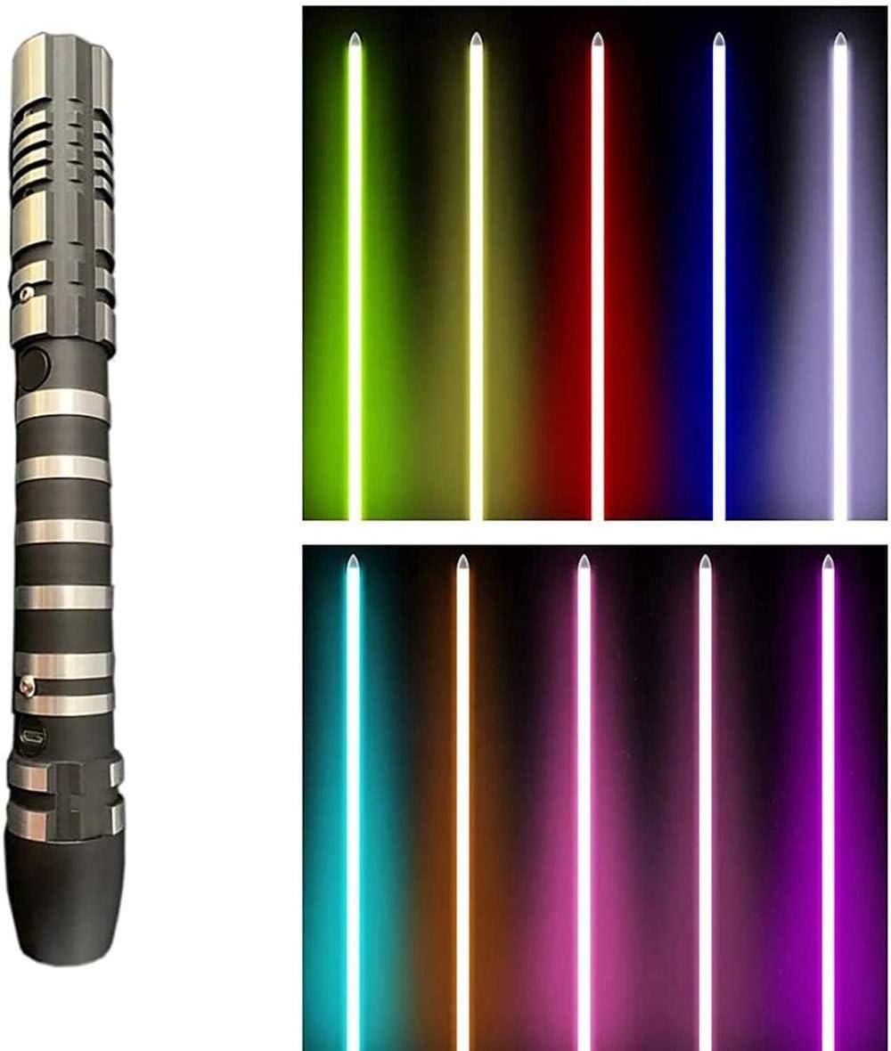 ADIS Lichtschwert Glowing Sound Toy Metal Abnehmbares USB-Ladelicht Laserschwert Kinder Glowing Toy Geschenk Cosplay Toy Purple 38.5Inches-38,5 Zoll/_Blau