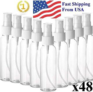 100ml/3.4oz Clear Spray Bottles Fine Mist Sprayer Refillable Container, 48