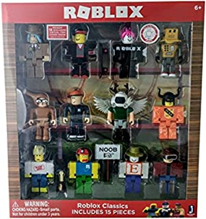 Roblox Series 1 Classics 12 figure pack -- includes: builderman, chicken man, classic noob, erik.cassel, girl guest, Keith, LMaD