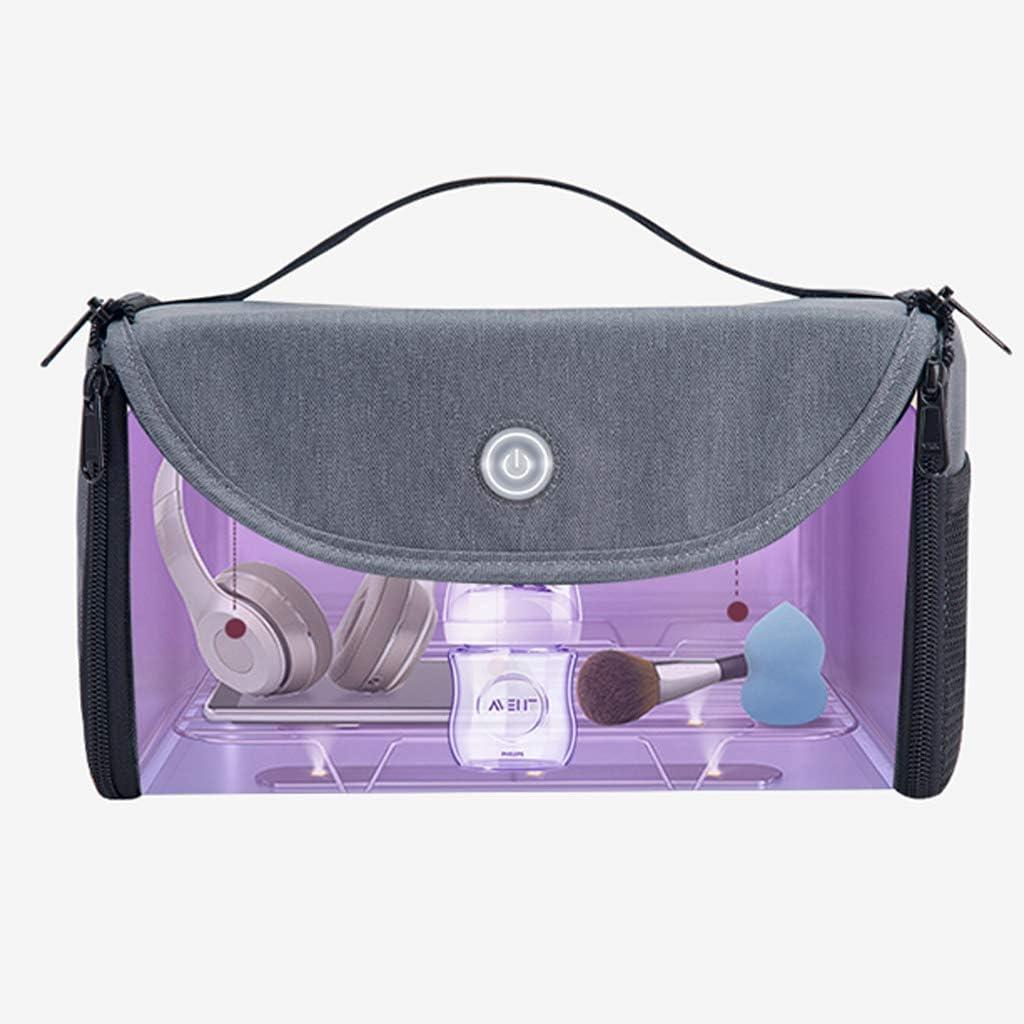 S-TROUBLE Organisateur de désinfection Portable de Sac de stérilisation UVC Pliable de LED pour la stérilisation de sous-vêtements de Brosse à Dents de biberon Blue