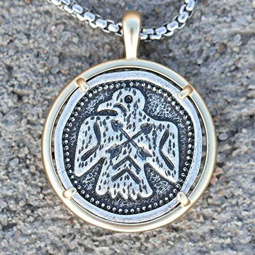 BEISUOSIBYW Co.,Ltd Halskette Vintage Thunderbird Halskette Moderne Southwestern Navajo Medaillon Adler Schmuck