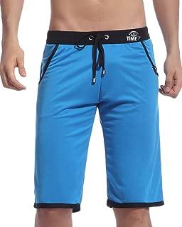 Showtime Men's Loose Sport Blue Long Shorts Pants with Black Front Tie