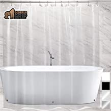 Gorilla Grip Premium PEVA Shower Curtain 72x72, Strongest, Mildew Resistant, BPA Free, Waterproof, Magnets in Curtains, Rust Resistant Grommets, Fits Standard Bath Tub and Showers, Single, Clear
