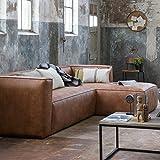 Maison ESTO Sofa-Ecke rechts, Cognac, Breite: 305 cm Tiefe: 96/175 cm Höhe: 73 cm