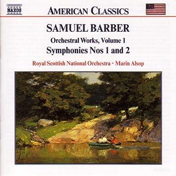 Barber: Orchestral Works, Vol. 1 - Symphonies Nos. 1 & 2