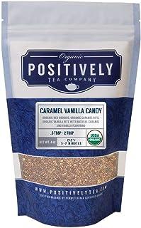 Positively Tea Company, Organic Caramel Vanilla Candy, Rooibos Tea, Loose Leaf, 4 Ounce Bag