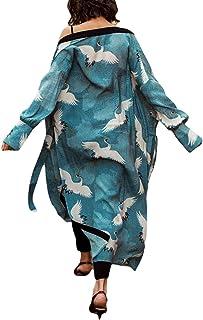 Bsubseach Kimono largo para mujer