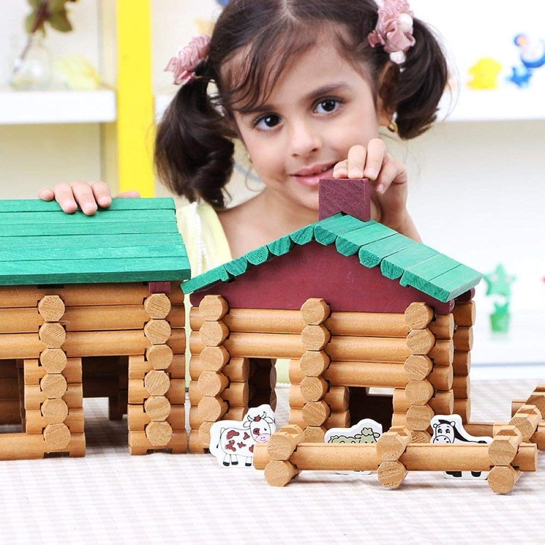 LIULAOHAN Giocattoli educativi for Bambini, fattorie in Legno e capanne for Negozi, Puzzle creativi e mutevoli