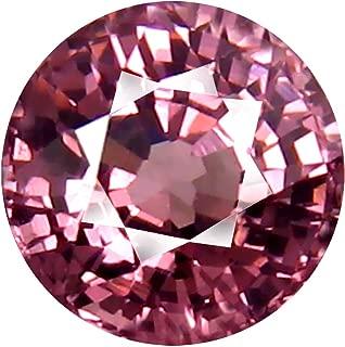 0.96 ct AAA+ Grade Round Shape (5 x 5 mm) Unheated Pink Malaya Garnet Natural Loose Gemstone