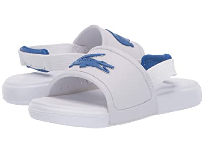 Lacoste Kids L.30 Slide 120 1 CUI (Toddler) (White/Blue) Kid
