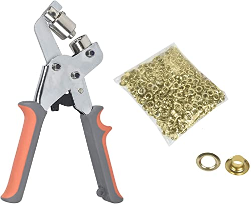 wholesale findmall 1/4 Inch (6mm) Grommet Handheld Hole Punch Pliers Grommet Machine Hand Press Tool online new arrival W/ 500 Gold Grommets outlet online sale