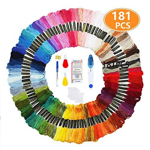 HEPAZ Stickgarn,Stickerei Kreuzstich Set,MultifarbenEmbroidery Thread,für Freundschaftsbänder, Kreuzstich, Nähgarne Stickerei Basteln