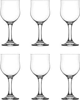 LAV Nevakar Stemmed Red Wine Tulip Glasses - 240ml - Pack of 6
