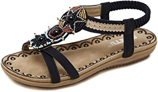 FULLSUNNY-Sandals for Women Andals About Town Sandal Out with Strap Across Toes Women's Wedge Pearls The Top Platform High Heels