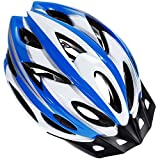 Zacro Adult Bike Helmet, CPSC Certified Cycle Helmet, Specialized for Mens Womens Safety Protection-Blue Plus White, Collocated with a Headband