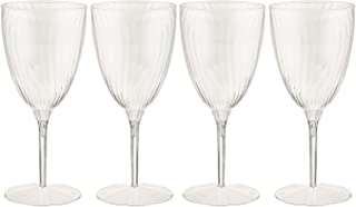 Lillian Tablesettings Premium Wine Glasses, Disposable Plastic Cups, 1 Piece, Value Pack-96 Count Champagne, 8 Oz.