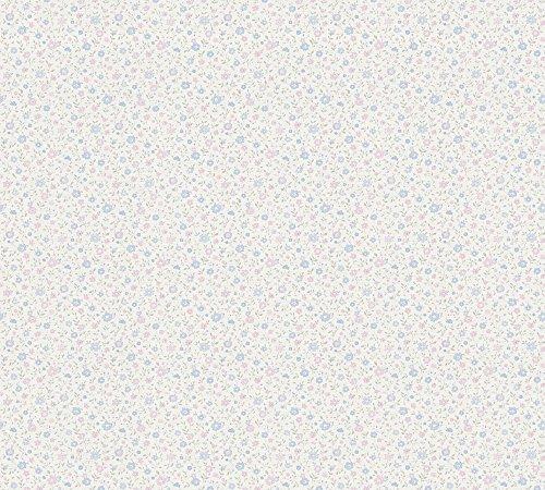 A.S. Création Vliestapete Liberté Tapete Landhaus Shabby Chic 10,05 m x 0,53 m blau rosa weiß Made in Germany 305252 30525-2