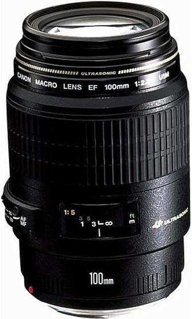 Canon EF 100mm f/2.8 Macro USM - Objetivo para Canon (Distancia Focal Fija 100mm Apertura f/2.8-32 diámetro: 58mm) Negro