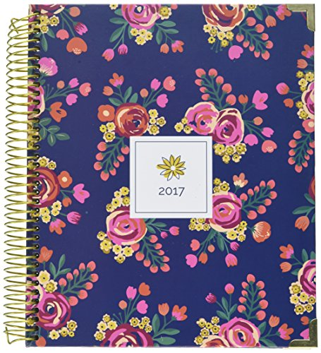 "Bloom Daily Planners 2016-2017 Academic Year Hard Cover Vision Planner - Monthly and Weekly Column View Planner - (August 2016 Through July 2017) Vintage Floral - 7.5"" x 9"""