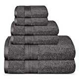 TRIDENT Soft and Plush, 100% Cotton, Highly Absorbent, Bathroom Towels, Super Soft, 6 Piece Towel Set (2 Bath Towels, 2...