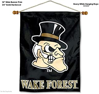 Wake Forest Demon Deacons Banner with Hanging Pole