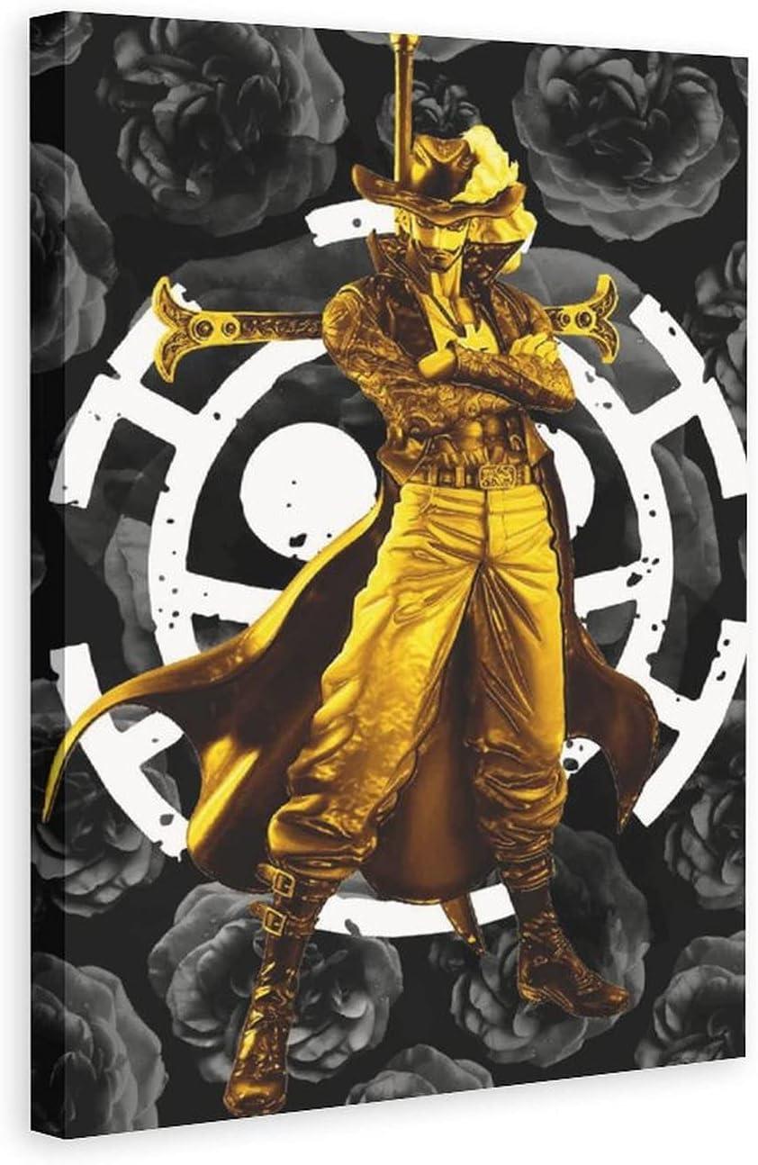 XUANSHANG Canvas Poster Cartoon Mihawk Decor Pr Wall Art Samurai Fixed price for sale security