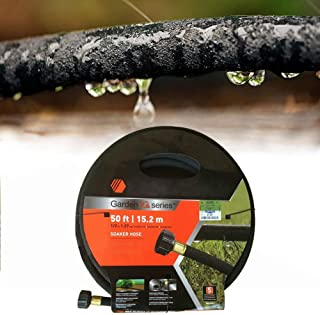 Shlia Soaker Garden Hose 50 ft with 1/2'' Diameter - Heavy Duty Rubber Saves 70% Water Perfect Delivery of Water Great for Garden Flower Bed